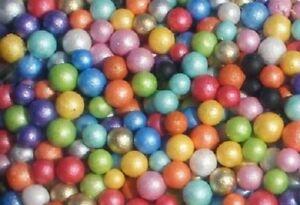 Pearl Coloured Styrofoam Balls Polyst Filler Beads Decor Crafts Art Project