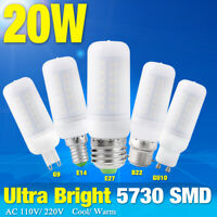Ultra Bright SMD LED Corn Bulb Lamp Cool/Warm Milky White B22/G9/E27 20W Lights
