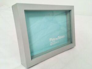 Picture frame five by seven 125x175mm grey colour, stands landscape or portrait