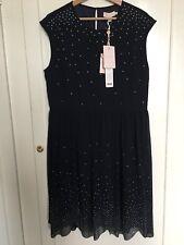 BNWT Ted Baker Vienne Embellished Scalloped Hem Shift Dress UK Size 5 or Size 16