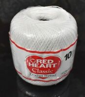 Coats Crochet Red Heart Classic Crochet Thread Size 10 Craft Easy To Use Perfect