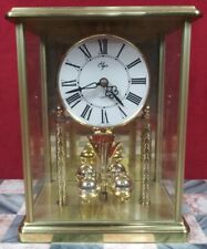 Vintage Elgin Quartz Battery Powered Anniversary Mantle Clock Germany