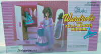 GLORIA DOLL HOUSE SIZE FURNITURE  Wardrobe With Full Length Mirror PLAYSET