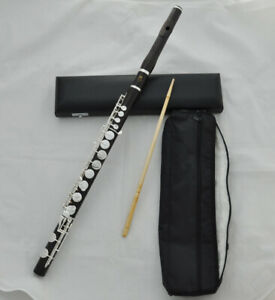 Prof. Black Ebony Grendadilla SR ALTO Flute Silver Plate Key G key +leather case
