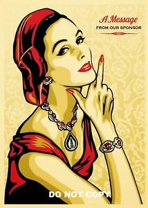 A4 GLOSSY PHOTO SHEPARD FAIREY A MESSAGE FROM OUR SPONSER PRINT POSTER #4
