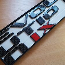 Mitsubishi Evo EVOLUTION IX (IX RED) Carbon Fibre Badges.