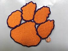 Clemson Tigers University College Paw Team Logo Iron On Jersey Jacket Patch