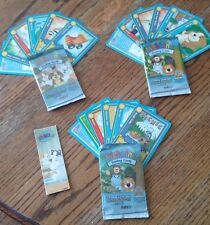 WEBKINZ Trading Cards Series One - 3 Open Packs - Feature Codes + Cats Bookmark