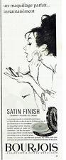 Publicité Advertising 097  1964   Bourjois  maquillage Satin finish