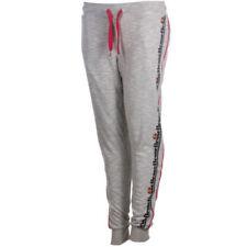 Mallas y pantalones largos de deporte de mujer grises de poliéster