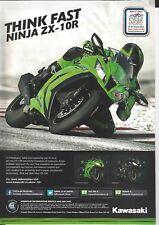 an Original 2011 Magazine Advertisement for the Kawasaki ZX-10R Ninja