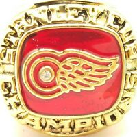 1997 Detroit Redwings Glasgow NHL Stanley Cup 18k Gold Plated Championship Ring