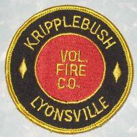 "Kripplebush-Lyonsville Volunteer Fire Company Patch - New York - 3"" x 3"""