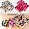 6/24 Cell Underwear Bra Sock Tie Storage Box Closet Organizer Drawer Container