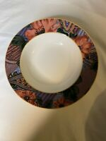 Casual Victoria Beale Ambrosia Rim Soup Bowls Red/Pink/Purple Floral Flower (4)