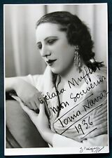 French Film Actress Tonia Navar orig 1936 signed photograph