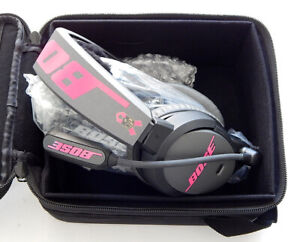 NFL Issued Bose SoundComm B20 Headset Pink Ribbon Breast Cancer Awareness NIB