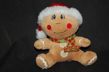 "DANDEE GINGERBREAD BABY BOY CHRISTMAS HOLIDAY 7""  PLUSH STUFFED ANIMAL LOVEY TOY"