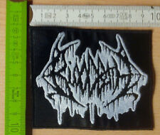 BLOODBATH PATCH BLACK WHITE LOGO DEATH HELLHAMMER MORBID ANGEL OBITUARY