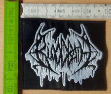 Bloodbath Patch black white logo Death chiaro Martello Morbid Angel Obituary