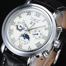 Orologio Automatico Uomo Crono Complication Fase Lunari Acciaio Scatola Legno