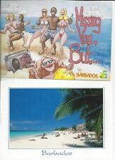 Barbados Post Cards Huge Lot Of 10 Beach Church Chattel House Monkeys Bikinis +