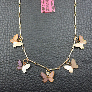 Betsey Johnson Fashion Jewelry Cool Metal Butterfly Choker Necklace