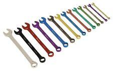 Sealey AK6314 Combination Spanner Set 14pc Multi-Coloured Metric