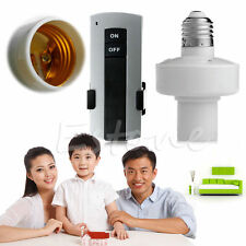Wireless Remote Control E27 Screw Lamp Bulb Holder Cap Light Socket Switch New R