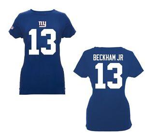 NFL Ladies New York Giants Ny Odell Beckham 13 Shirt Women Girl Football