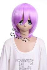 w-10-f12 LILA MORADO 33cm cosplay peluca peluca Corto Pelo ANIME MANGA