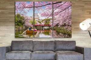 Japan canvas wall art - Japanese cherry blossom