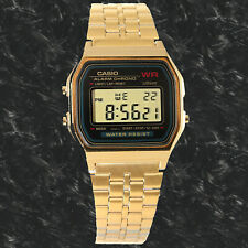 Casio AUTHENTIC A159WGEA-1D Digital Gold Watch Stainless Steel Gold Face New
