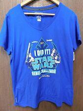 New Run Disney 2017 Star Wars Marathon Rebel Challenge Shirt Woman's Large
