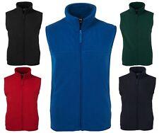 polar fleece vest unisex black navy red bottle green royal blue zip front new