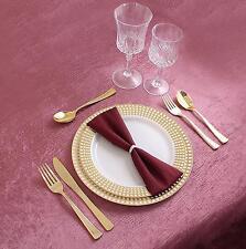 Premium White & Gold 40 Pieces Wedding Birthday Party Plastic Plates