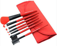 Makeup Brush Set Box 7pc   Cosmetic Bag Maquillaje Brochas Mujer  Brushes Red