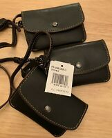 NWT Coach Card Pouch Wristlet Mini Wallet ID Case Wallet Leather F21088 Black