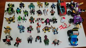 Vintage Galoob ZBots Figure Lot Of 34 Z-Bot, Voids, Combots Micro Machines LGTI