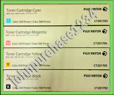Fuji Xerox Toner CMYK Color 550, 560 570, C60, C70  full Set of 4 units -Genuine