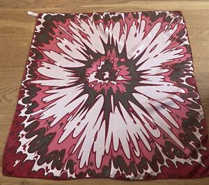 Lovely Vintage RICHARD ALLAN Flower Burst Print Silk Scarf