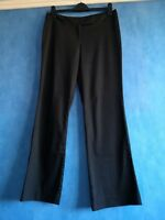 Great Plains House of Fraser Ladies Cotton Blend Black Trousers Size 12