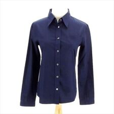 Prada Shirts Navy 38 Woman Authentic Used C3303