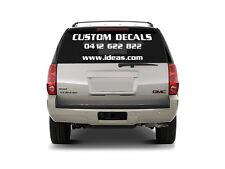 Custom  Car sticker/ Decal  * You choose what you want  *Hard wearing vinyl film