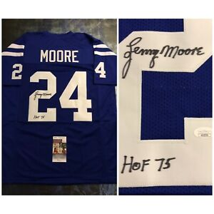 JSA Baltimore Colts LENNY MOORE Signed Jersey COA