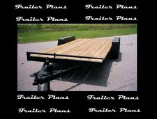 8X16 Heavy Duty Tandem Axle Car Trailer Plans,Instructions,BOM GVWR 10,000#