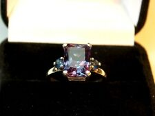 4.68+CT WOMAN S RING.RUSSIAN WELL TEST REAL LAB  ALEXANDRITE COLOR CHANGE