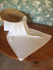 Stunning 100% pure cashmere baby blanket / comforter. Col: White