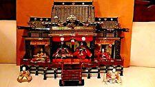 ANTIQUE MEIJI UNIQUE JAPANESE HINA DOLL EMPEROR'S PALACE W/EMPEROR&EMPRESS