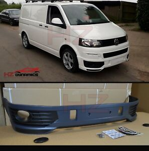 V2 SPORTLINE TYPE FRONT BUMPER SPLITTER SPOILER FOR VW TRANSPORTER T5.1 FACELIFT